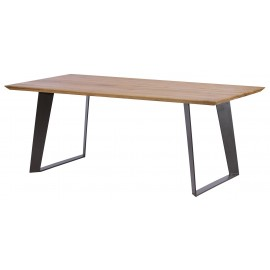Table rectangulaire 2M20 chêne massif - Oslo