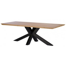 Table rectangulaire 2M00 pied central chêne massif - Oslo