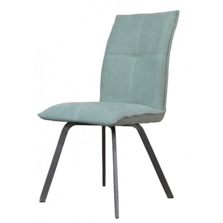 Chaise Ascot pieds métal et tissu vert