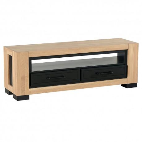 Meuble tv chêne 2 tiroirs - Cleveland Casita