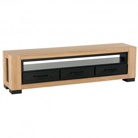 Meuble tv chêne 3 tiroirs - Cleveland Casita