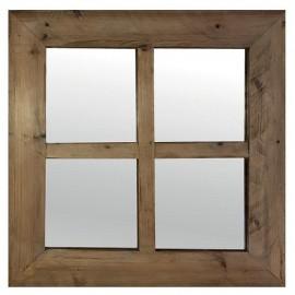 Miroir carré sapin recyclé - Ester Casita