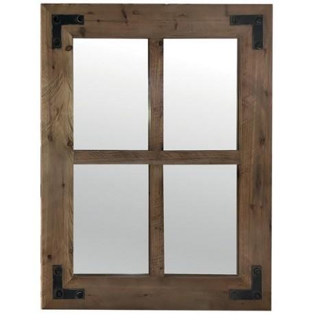 Miroir rectangulaire sapin recyclé - Ester Casita