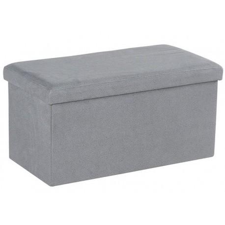 Banc coffre tissu gris clair - Ester Casita