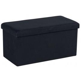 Banc coffre tissu noir - Malta Casita