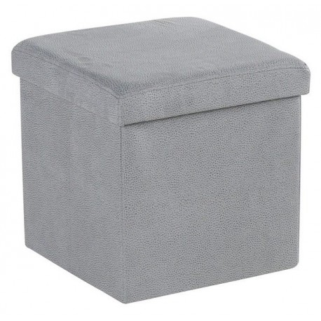 Pouf coffre tissu gris clair - Soraya Sofacasa Casita