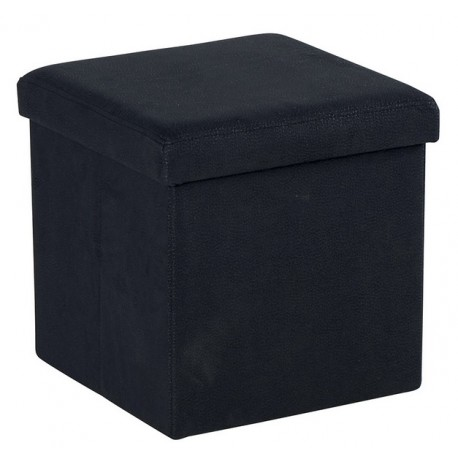 Pouf coffre tissu noir - Soraya Sofacasa Casita