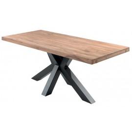 Table chêne massif pied étoile - Smokey Casita