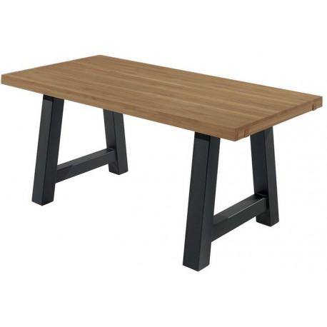Table pin massif pieds tréteaux - Coopers Casita