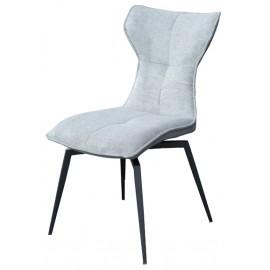 Chaise pivotante Sun velours gris foncé