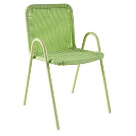 Chaise enfant polyrésine vert - Aubry Gaspard