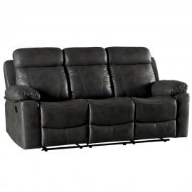 Canapé 3 places avec relax tissu gris - Mississauga Casita