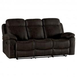 Canapé 3 places avec relax tissu havane - Mississauga Casita