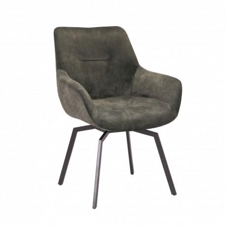 Chaise pivotante velours vert - Modest
