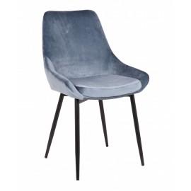 Chaise Mirano revêtement velours bleu