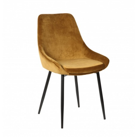 Chaise Mirano velours or