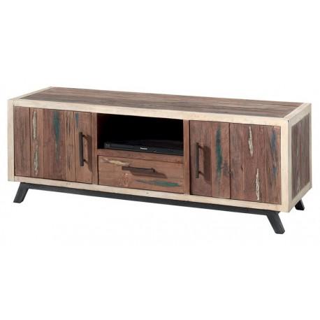 Meuble TV en bois de bateau recyclé - Sunboat Casita