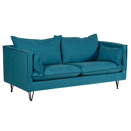 Canapé tissu bleu canard - Larry Casita