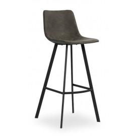 Chaise haute teinte grise pour îlot de cuisine Ozan