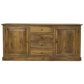 Buffet 2 portes 4 tiroirs manguier naturel - Jeanne