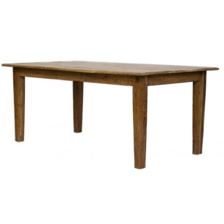 Table rectangulaire manguier massif naturel - Jeanne