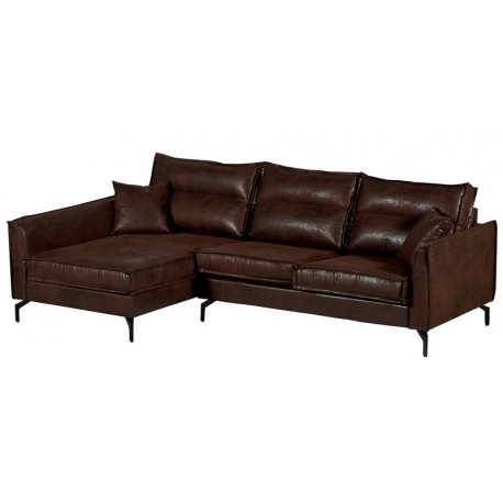 Canapé d'angle retour gauche havane - Falster Casita