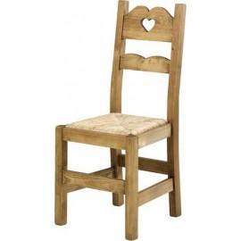 Chaise coeur assise paille - Brunswick Casita