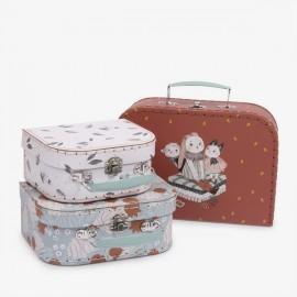 Set de 3 valises Après la pluie - Moulin Roty