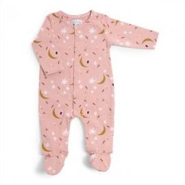 Pyjama naissance jersey rose Après la pluie - Moulin Roty