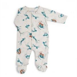 Pyjama 12m motif guépards Sous mon baobab - Moulin Roty