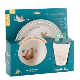 Set vaisselle bébé Le voyage d'Olga - Moulin Roty
