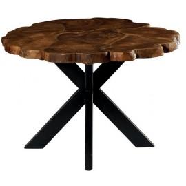 Table ronde teck massif recyclé - Palaos Casita