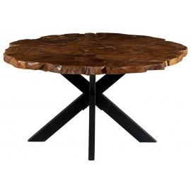 Table ronde 1.50m teck massif recyclé - Palaos Casita