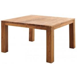 Table carrée teck massif brossé - Bornéo Casita