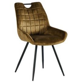 Chaise tissu kaki pieds métal - Dina Casita