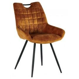 Chaise tissu moutarde pieds métal - Dina Casita