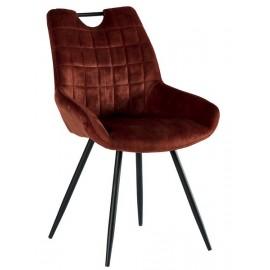 Chaise tissu couleur rouille pieds métal - Dina Casita