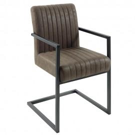 Chaise accoudoir microfibre kaki - Lenon Casita