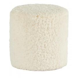 Pouf fausse fourrure blanc - Snow Casita