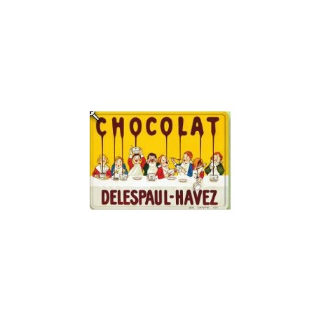 PLAQUE METAL CHOCOLAT DELESPAUL 30 X 40