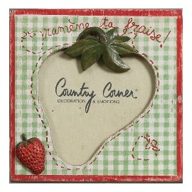 CADRE PHOTO FRAISE COUNTRY CORNER