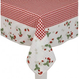 NAPPE 100x100 STRAWBERRY GARDEN CLAYRE ET EEF