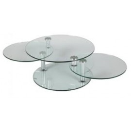 TABLE BASSE DALLES DE VERRE RONDS MEGEVE