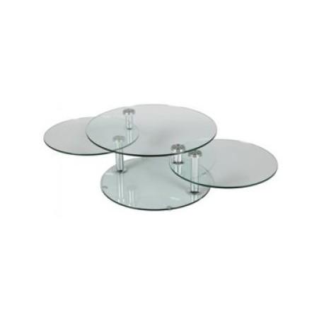 TABLE BASSE DALLES DE VERRE RONDS MEGEVE